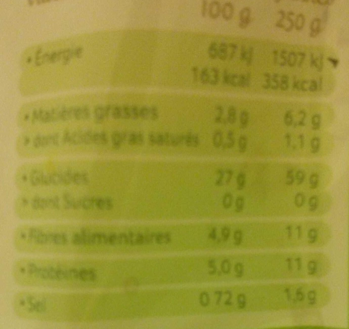 Blé, riz rouge, quinoa au naturel (Céréal Bio) : calories