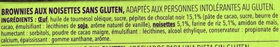 Brownies Chocolat Noisette - Ingrediënten