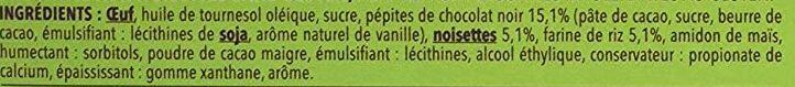 Brownies Chocolat Noisette - Ingrédients - fr