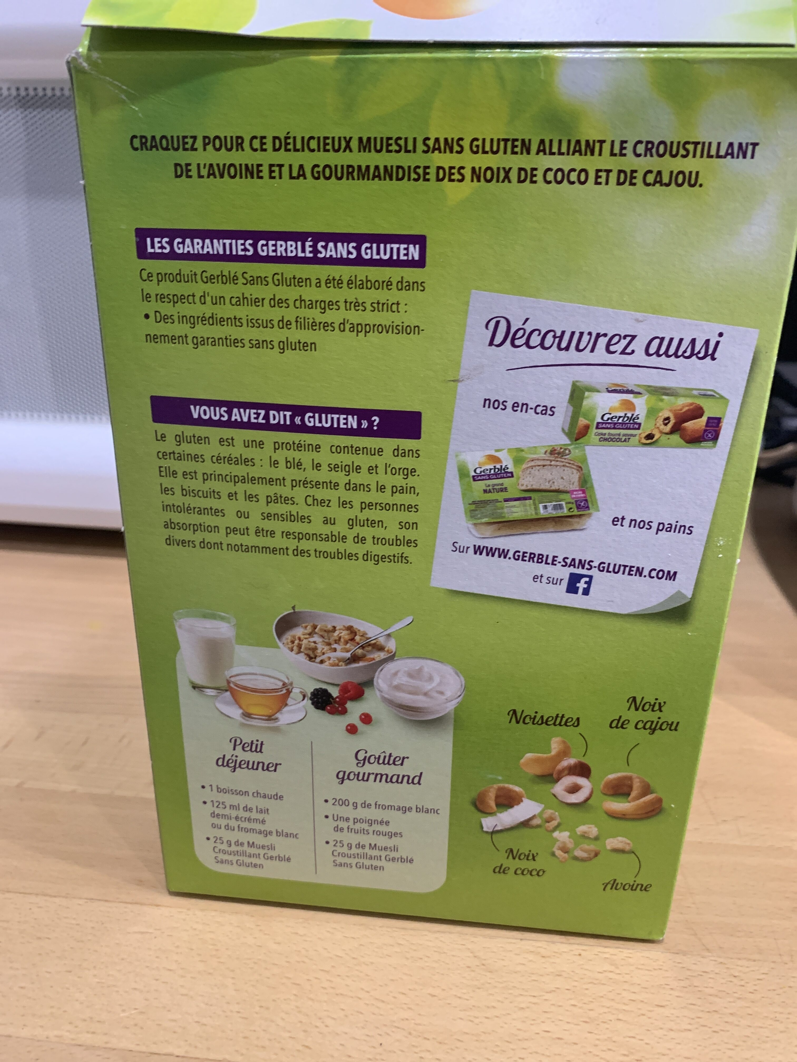 Müesli croustillant avoine sans gluten - Informations nutritionnelles - fr