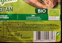 Seitán - Ingredients - es