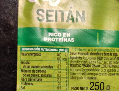 Seitán - Nutrition facts - es