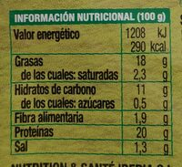 Escalopes de seitán rebozados ecológicos y vegetal - Informations nutritionnelles - es