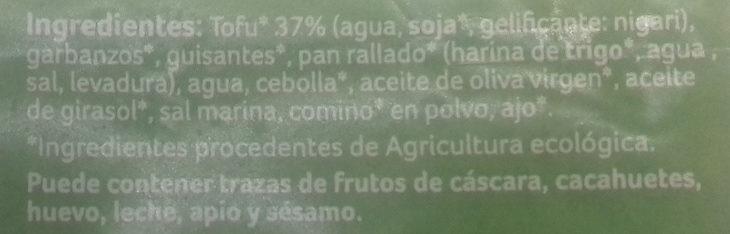 Falafel - Ingredients - es
