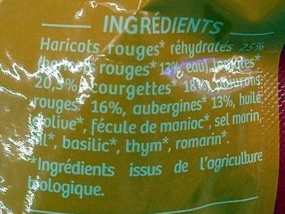 Légumes Mijotés Provençale & Haricots Rouges - Ingrediënten