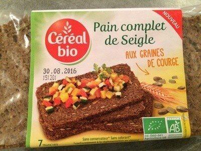 Pain complet de seigle aux graines de courges - Prodotto - fr