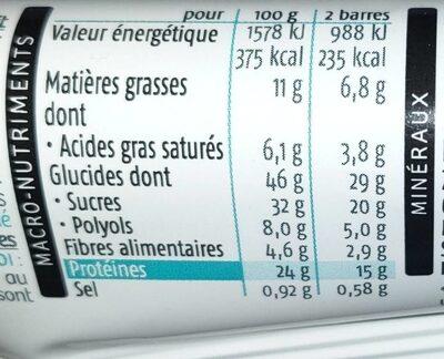 Barre Minceur Saveur Chocolat Coco - Informations nutritionnelles - fr
