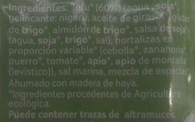 Salchicha de tofu al estilo frankfurt - Ingredients