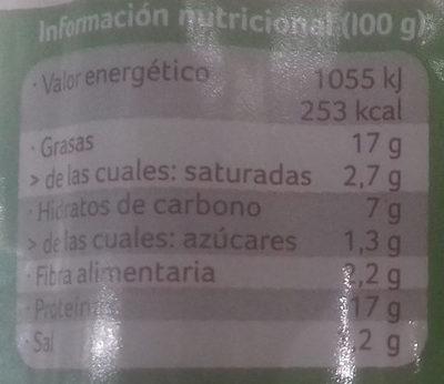 Salchicha de tofu al estilo frankfurt - Informació nutricional