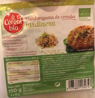 Hamburguesa de cereales jardinera - Producto