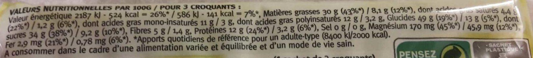 Croquant Miel Sésame - Nutrition facts - fr