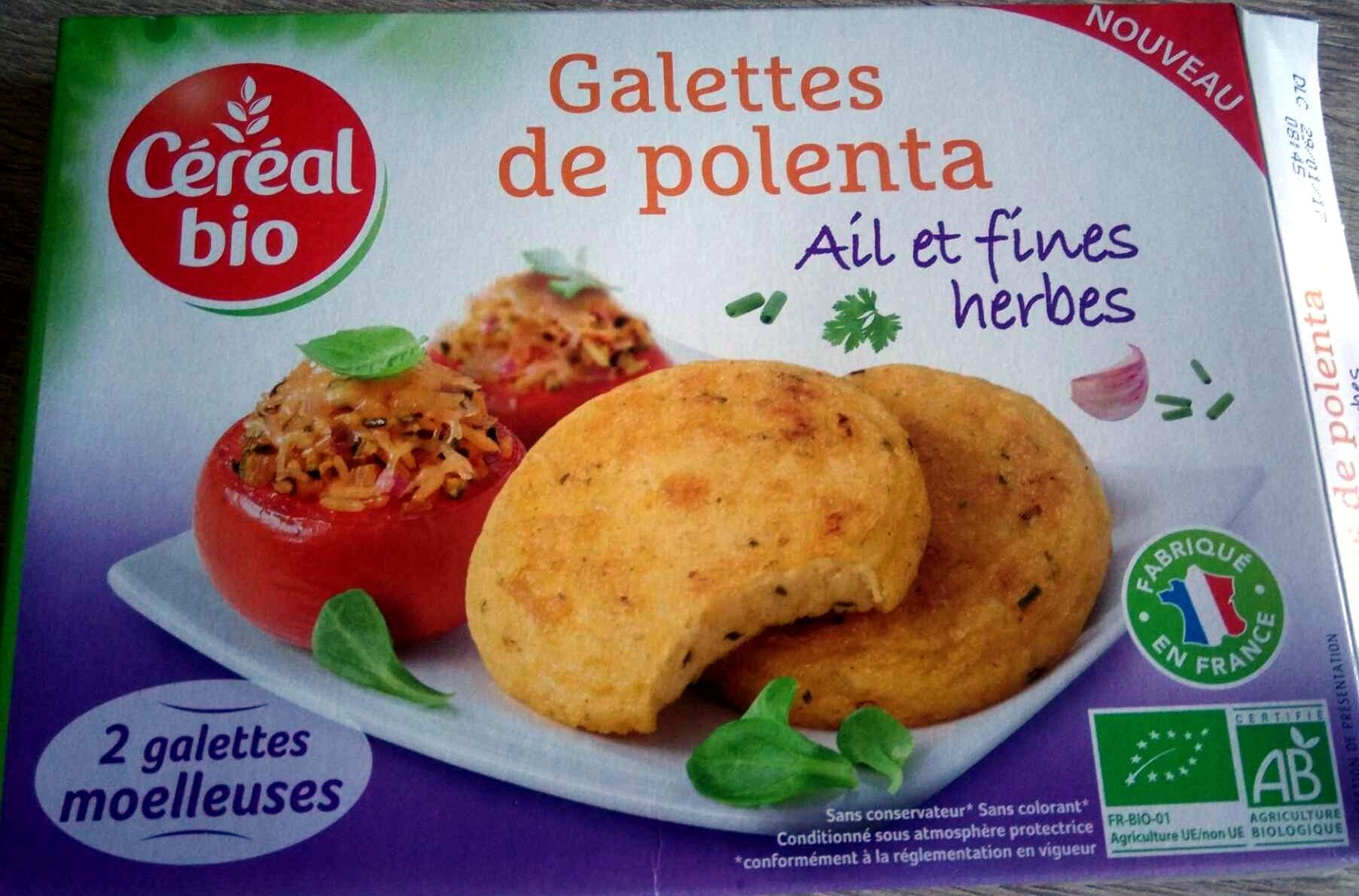 Galettes de polenta ail et fines herbes - Produit - fr