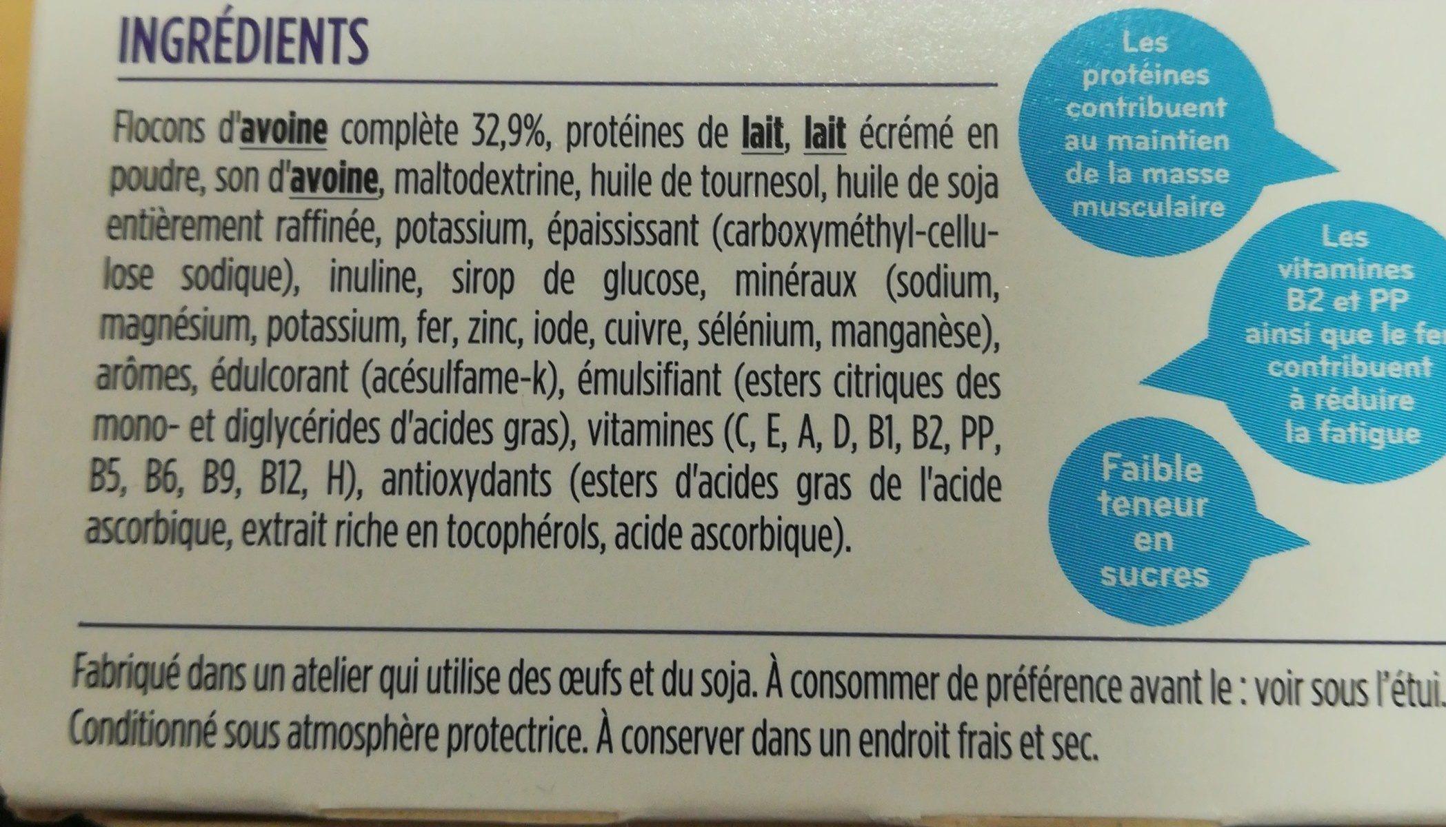 Milical LCD Porridge Aux Flocons D'avoine 4 Sachets Repas - Ingrédients - fr