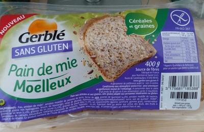pain de mie cereales sans gluten gerbl sans gluten 400 g. Black Bedroom Furniture Sets. Home Design Ideas