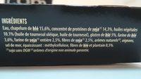 Grill végétal - nuggets soja & blé - Ingrédients - fr