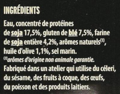 Émincés Soja & Blé - Ingredients