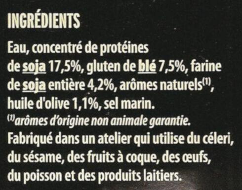 Grill Végétal Émincés Soja & Blé - Ingredientes - fr