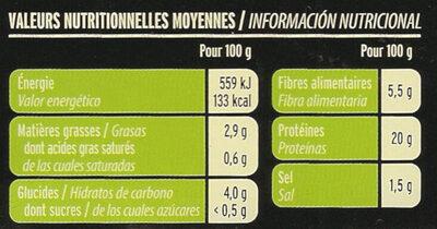 Émincés Soja & Blé - Informació nutricional