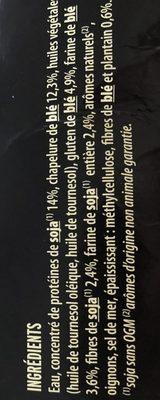 Escalopes soja & blé - Ingrédients