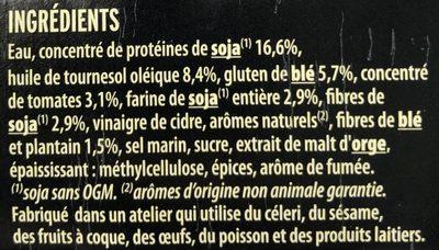 Steaks soja & blé - Ingrédients