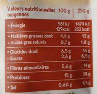 Haché Végétal - Valori nutrizionali - fr