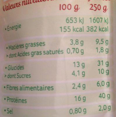 Haché végétal façon bolognaise au soja - Voedingswaarden - fr