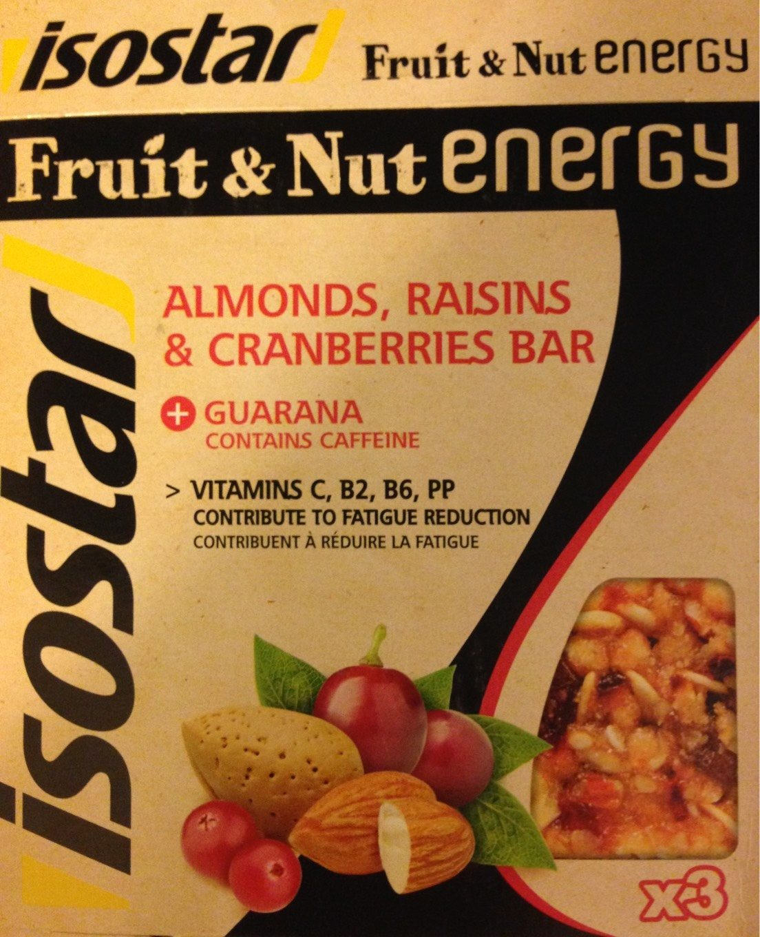 Isostar Fruit Nut Energy Reep Cranberrie - Product