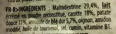 Isostar Salted Veggie Puree - Ingredients