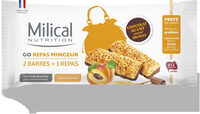 Milical Go - Barres Repas Chocolat saveur Abricot - Product
