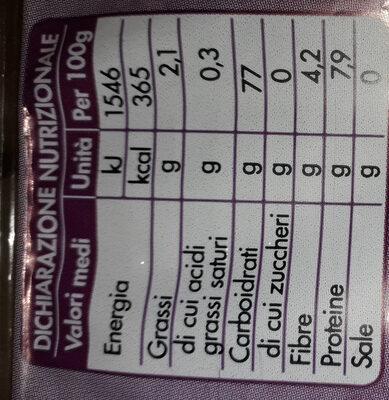 Fette di riso mais e quinoa - Informations nutritionnelles - fr