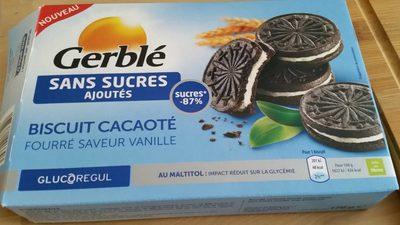 Biscuit Cacaoté Fourré Saveur Vanille - Product - fr