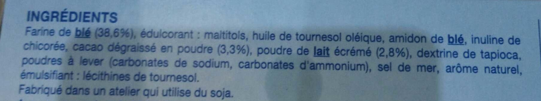 Biscuit Cacaoté Fourré Saveur Vanille - Ingrediënten - fr