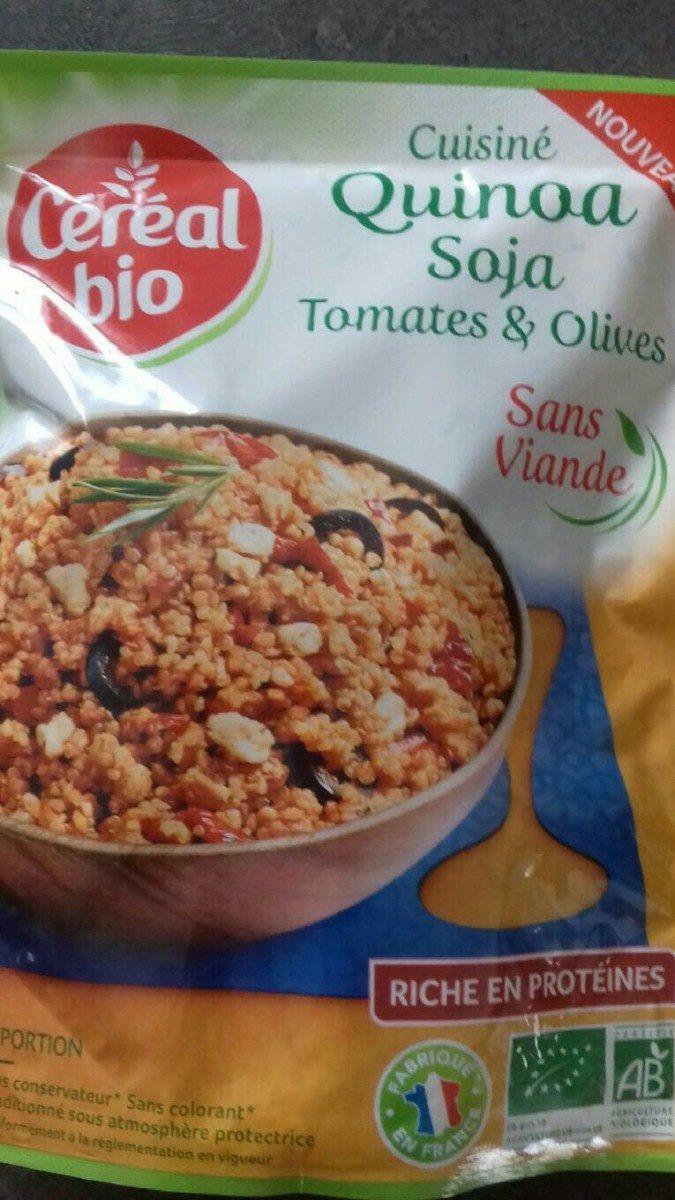Quinoa soja tomates et olives - Produit - fr