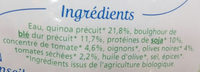 Quinoa soja tomates et olives - Ingredients - fr