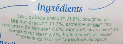 Quinoa soja tomates et olives - Ingrédients - fr