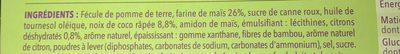 Biscuit coco citron - Ingrediënten - fr