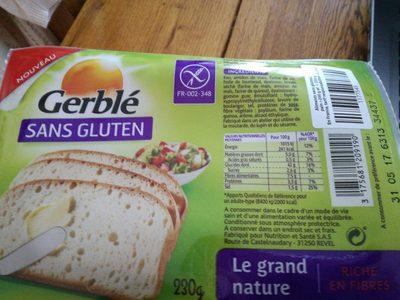 Gerblé sans gluten le grand nature - Produit - fr