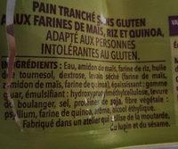 Gerblé sans gluten le grand nature - Ingrédients - fr
