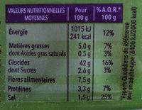 Gerblé sans gluten le grand nature - Informations nutritionnelles - fr