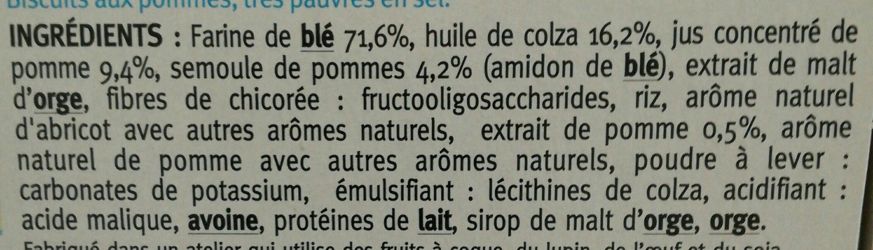 Biscuits aux pommes - Ingrédients - fr