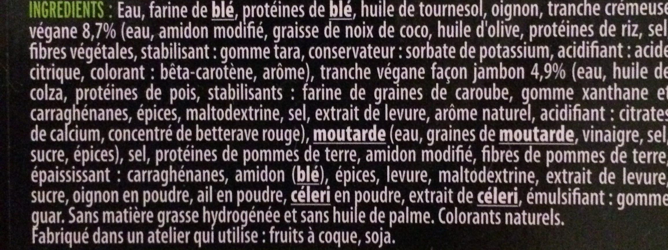 Cordon Bleu  Végétale - Ingrediënten - fr