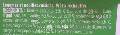 Wok de Nouilles et Petits Légumes Cuisinés - Ingredients