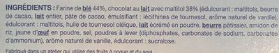 Biscuit fondant choco lait - Ingrédients - fr