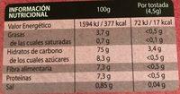 Gerblé - Informations nutritionnelles