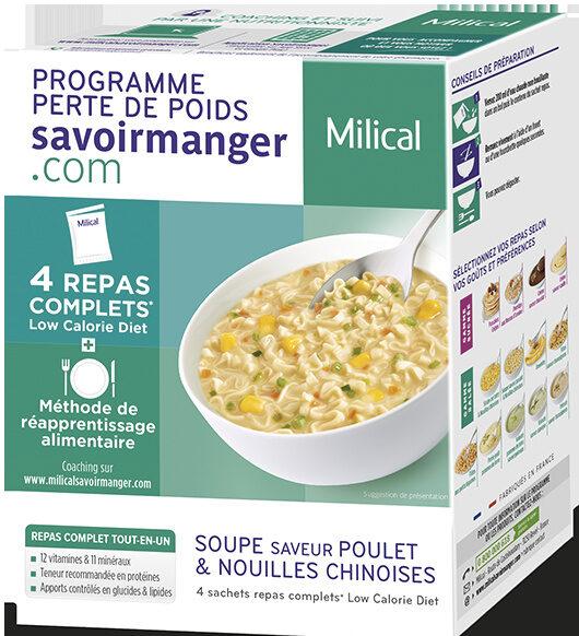 Milical LCD - Soupe saveur Poulet & Nouilles chinoises - Produit