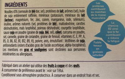 Milical LCD - Soupe saveur Poulet & Nouilles chinoises - Ingrédients