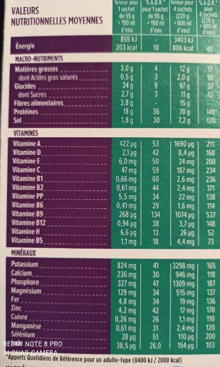 Soupe Nouilles chinoises saveur poulet - Informations nutritionnelles - fr