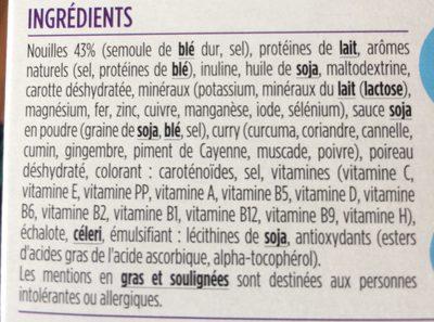 Milical LCD - Soupe au Curry & Nouilles Chinoises - Ingrédients