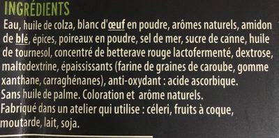 Grill Knacks Végétal - Ingredients