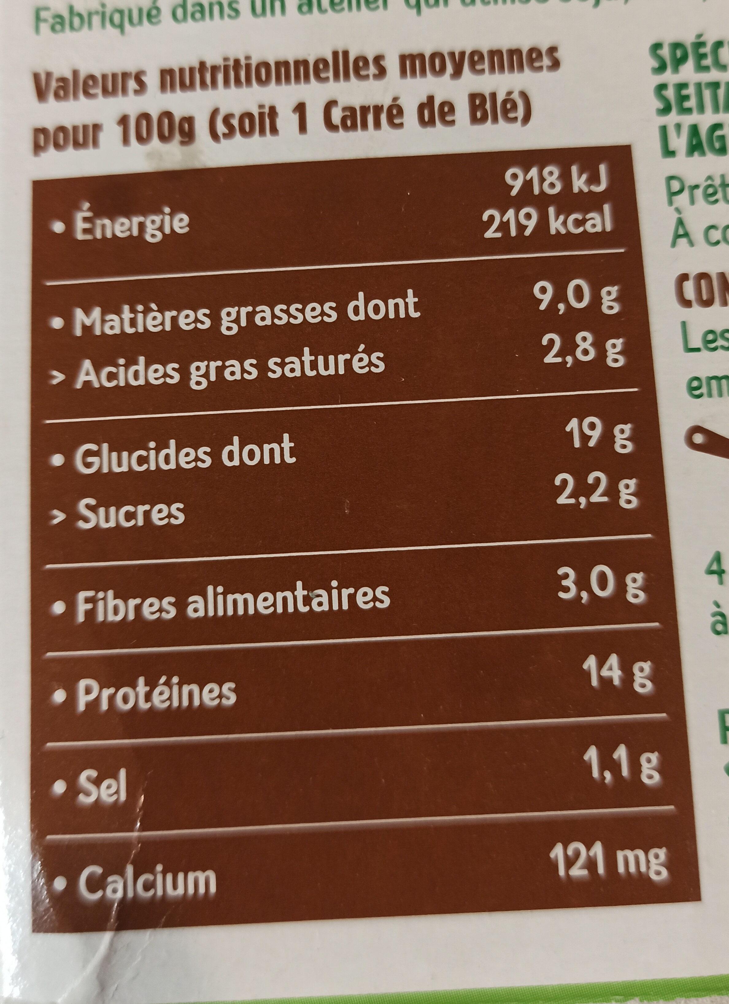 carrés de blé - Valori nutrizionali - fr